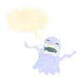 Retro cartoon shrieking ghost Stock Photography