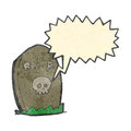 Retro cartoon shrieking grave Stock Photo
