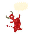 Retro cartoon singing devil Royalty Free Stock Photo