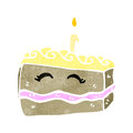Retro cartoon slice of cake Royalty Free Stock Photo