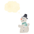 Retro cartoon snowman Royalty Free Stock Photo