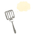 Retro cartoon spatula Stock Photos