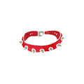 Retro cartoon spikey dog collar with texture isolated on white Stock Image