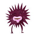 Retro cartoon spiky sea creature Royalty Free Stock Photos