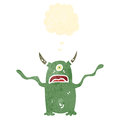 Retro cartoon spooky monster Royalty Free Stock Photo