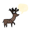 Retro cartoon stag Stock Photography
