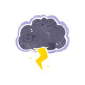 retro cartoon stormcloud symbol Royalty Free Stock Photo