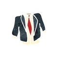 Retro cartoon suit with texture isolated on white Royalty Free Stock Photo