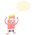 Retro cartoon sunburnt man Royalty Free Stock Images
