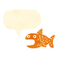 retro cartoon talking goldfish Royalty Free Stock Photo