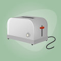 Retro cartoon toaster illustration of a Royalty Free Stock Photography