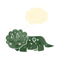 Retro cartoon triceratops Stock Images
