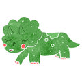 Retro cartoon triceratops Stock Photo
