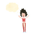 retro cartoon yawning woman