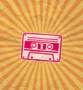 Retro cassette flyer style music party Royalty Free Stock Photo