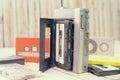 Retro cassette tape. Vintage Royalty Free Stock Photo