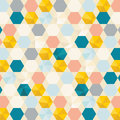 Retro cells pattern background Royalty Free Stock Photo