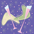 Retro Champagne Toast Stock Images