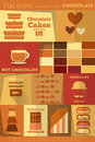 Retro chocolate collection labels in flat design style mobile ui style illustration Stock Photos