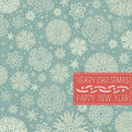 Retro christmas background with snowflakes and lab label for text vector illustration Royalty Free Stock Images