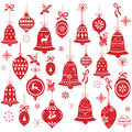 Retro Christmas Bell Design Elements Royalty Free Stock Photo