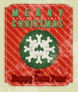 Retro christmas design illustration Stock Photo