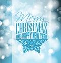 Retro Christmas Label On Blurr...