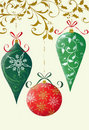 Retro Christmas Ornaments Royalty Free Stock Photos