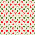 Retro Christmas pattern Stock Photo