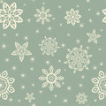Retro christmas pattern with white snowflakes on blue background vintage color Royalty Free Stock Photos