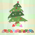 Retro christmas postcard illustration Royalty Free Stock Photos