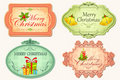 Retro Christmas Sticker Royalty Free Stock Photography