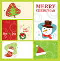 Retro Christmas Tag Set 2 Stock Photos