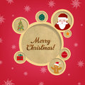 Retro Christmas Web Design Bubbles And Santa Claus Stock Image
