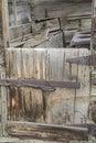 Retro chuckwagon wooden doorway Royalty Free Stock Photo