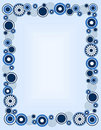 Retro circle frame Royalty Free Stock Photo