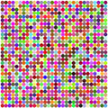 Retro circle multicolored abstract pattern Stock Image