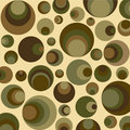 Retro circles in green Stock Photos