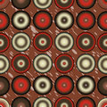 Retro circles pattern colorful abstract background