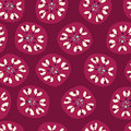 Retro circles pattern a seamless of circle shapes on a red background Royalty Free Stock Images