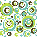 Retro Circles Seamless Wallpaper Pattern Stock Image