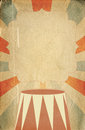 Retro circus style poster template on rhombus background with ri sunbeam a space for your text Royalty Free Stock Image