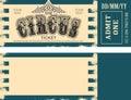 Retro circus ticket