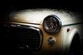 Retro classic car on black background. Vintage, elegant Royalty Free Stock Photo