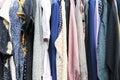 Retro clothes on a hanger horizontal composition Stock Photography