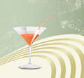 Retro cocktail glass party background with Royalty Free Stock Image