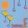 Retro cocktail party card