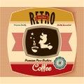 Retro Coffee Label Royalty Free Stock Photo
