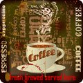 Retro coffee sign, Royalty Free Stock Photo