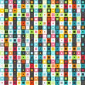 Retro colored squares seamless pattern Royalty Free Stock Photo